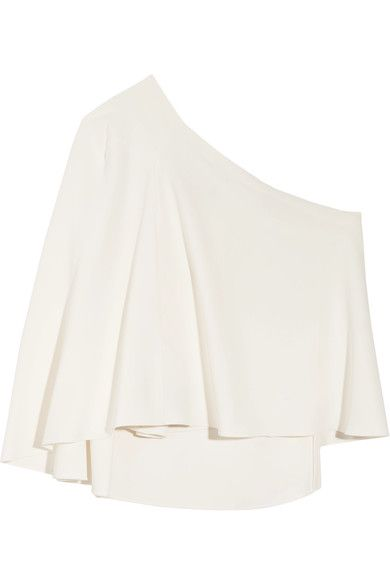 Roland Mouret - Hurley One-shoulder Crepe Top - White - UK12