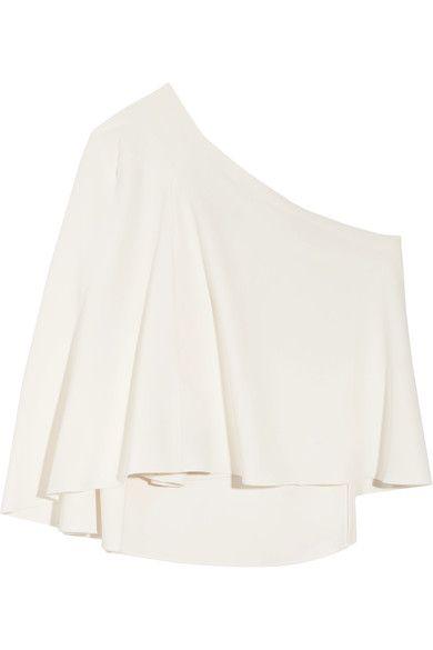 Roland Mouret - Hurley One-shoulder Crepe Top - White - UK12
