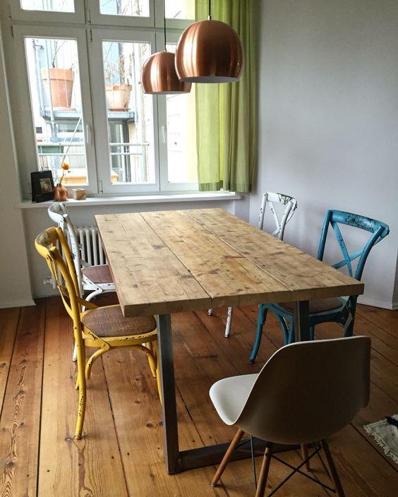 die besten 17 ideen zu ger stbohlen auf pinterest industrieller schreibtisch schreibtisch f r. Black Bedroom Furniture Sets. Home Design Ideas
