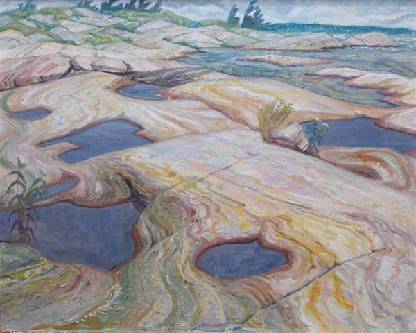 'Pools in the Rocks' by Doris Jean McCarthy at Mayberry Fine Art
