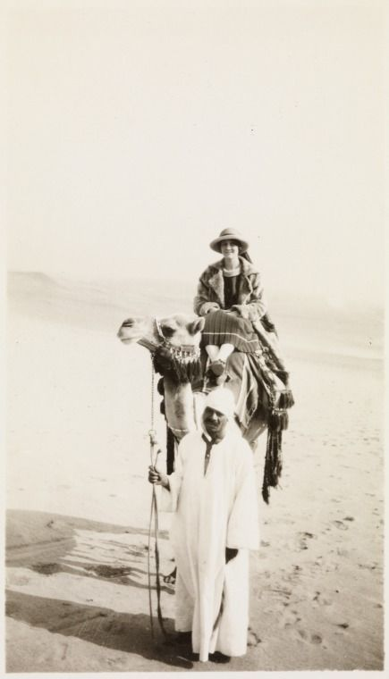 BA780/25: Mary Louch on a camel in Cairo, 1915 https://encore.slwa.wa.gov.au/iii/encore/record/C__Rb3596302