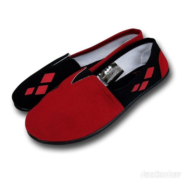 Harley Quinn All-Over Print Women's Slip-On Shoes | via superherostuff.com