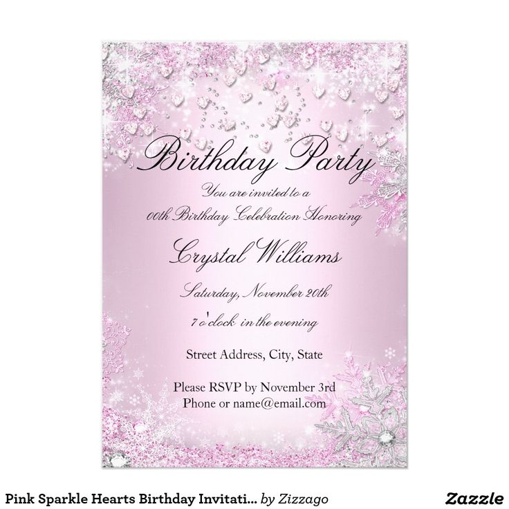 168 best Womens & Girls Birthday Party Invitations images on Pinterest