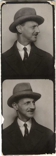 Otto Frank, Anne Frank's father, in an undated photobooth picture