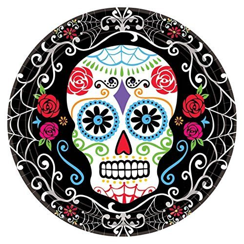 "Day of the Dead 7"" Dessert Plates (18 Pack) Amscan https://www.amazon.com/dp/B012GX751U/ref=cm_sw_r_pi_dp_e4ONxbJVPYKPG"