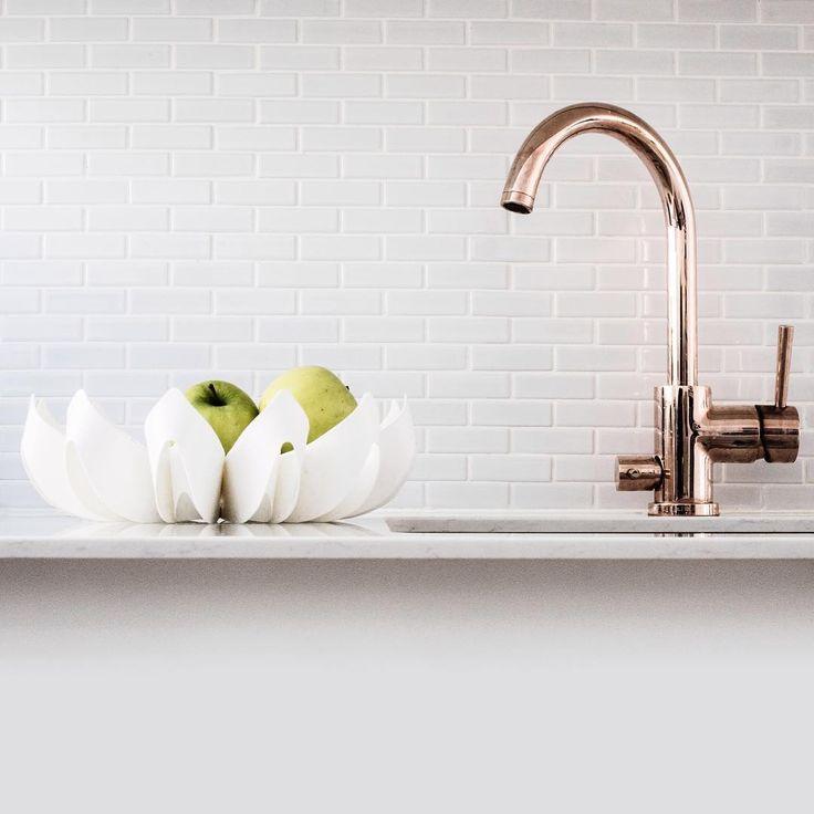 White Petals fruit bowl small & white kitchen / be&liv