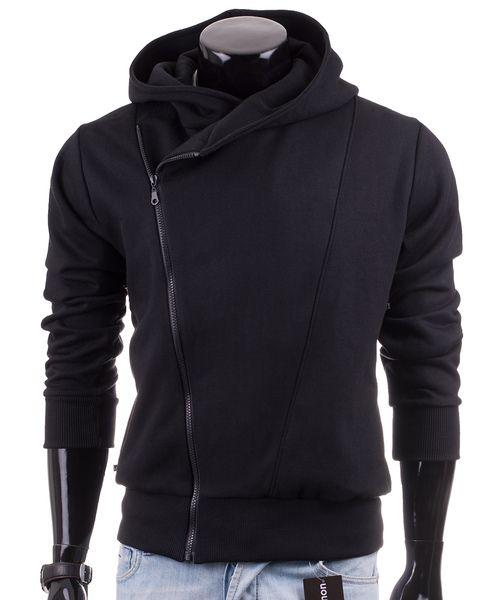 Czarna bluza męska z kapturem Carlo Lamon - Lamon_pl - Bluzy z kapturem męskie