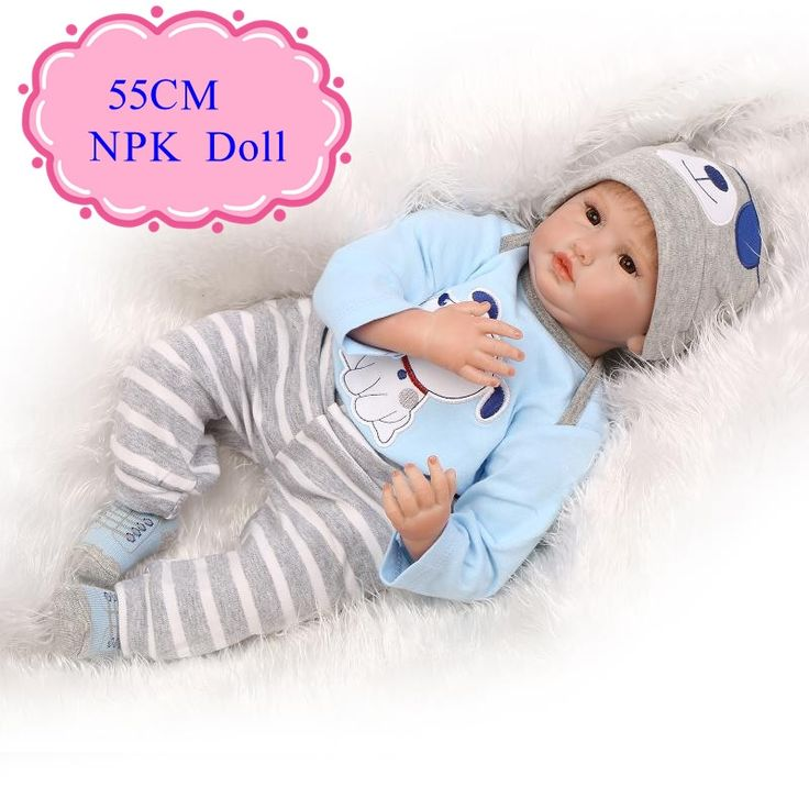 (78.20$)  Buy here  - 55cm 22inch Reborn Baby Dolls For Sale With Blue 22'' Baby Doll Clothes Best Price Bebe Reborn De Silicone Barato Best Baby Toys