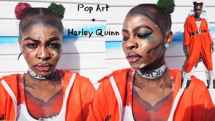 Pop Art Suicide Squad Harley Quinn Halloween Makeup & Outfit