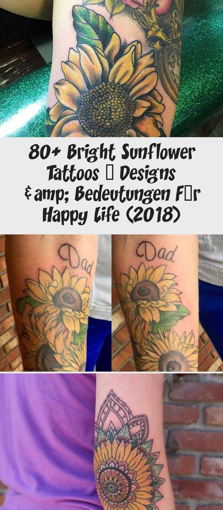80+ Bright Sunflower Tattoos Designs & Bedeutungen Für