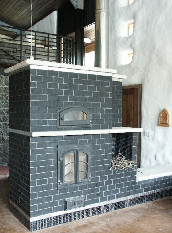 calentador de mampostería con horno