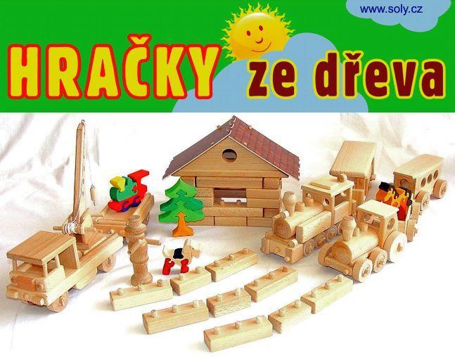 Výukové stavebnice ze dřeva - vlakové nádraží depo