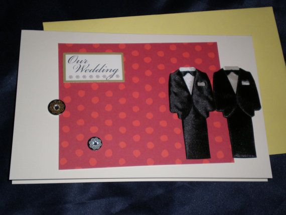 Love and Cherish Two Gay Men Wedding Card by giftcardsbynlo, $4.95