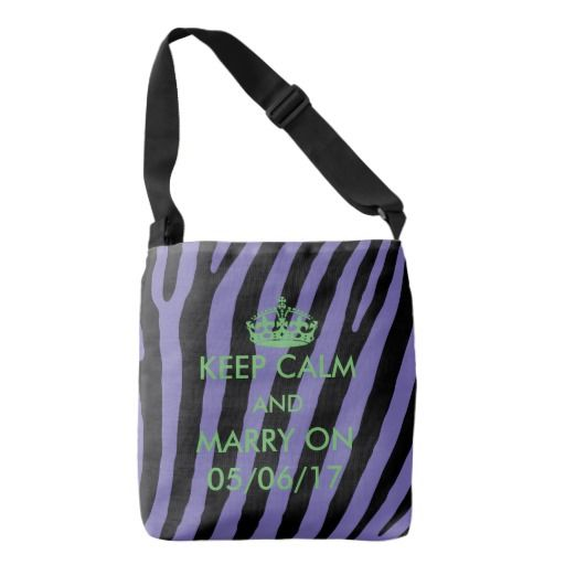 Bridesmaid personalize purple and lime green Zebra Tote Bag