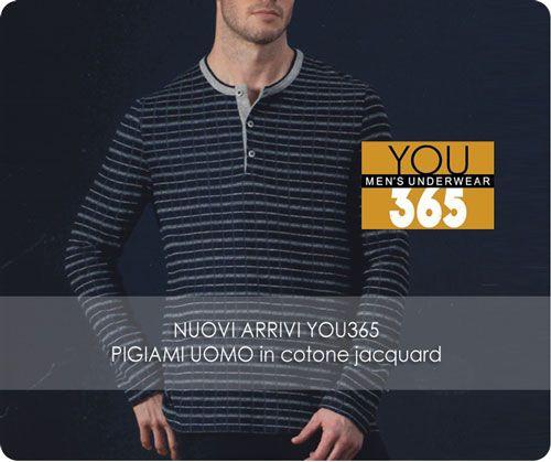 #Pigiami Uomo #You365. A grande richiesta ancora novità per la pigiameria invernale maschile. http://www.atyintimoonline.it/133-pigiami-uomo