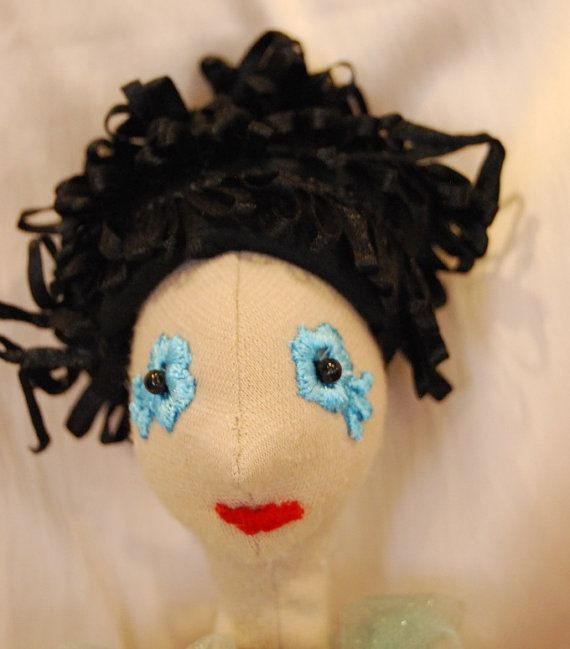 Funny black hair for the doll by Rongylady on Etsy