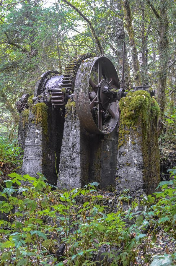 Abandoned mining equipment -  Prince of Wales island, SE Alaska.