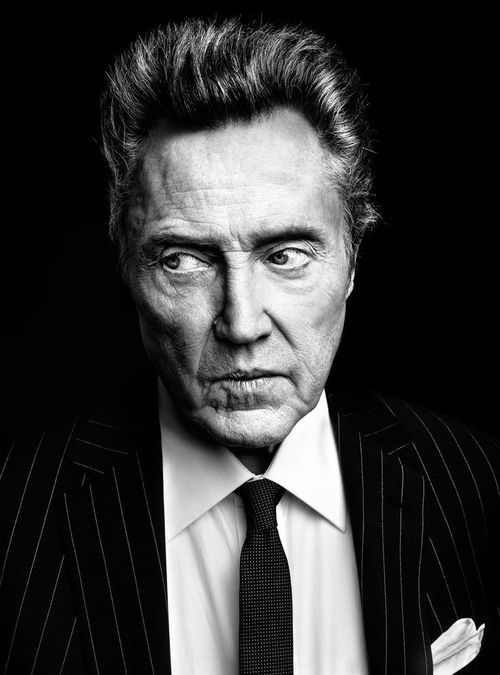 Christopher Walken black and white portrait