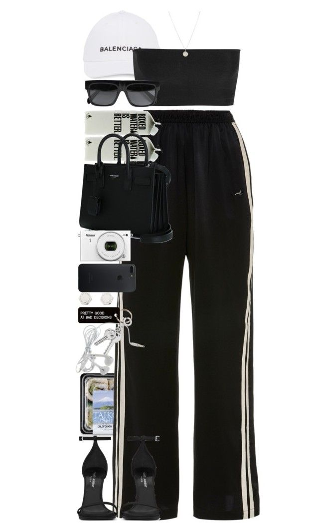Presume not that I am the thing I was. by quiche on Polyvore featuring moda, Balmain, Morgan Lane, Yves Saint Laurent, Marc by Marc Jacobs, Dogeared, CÉLINE, Various Projects and Nikon