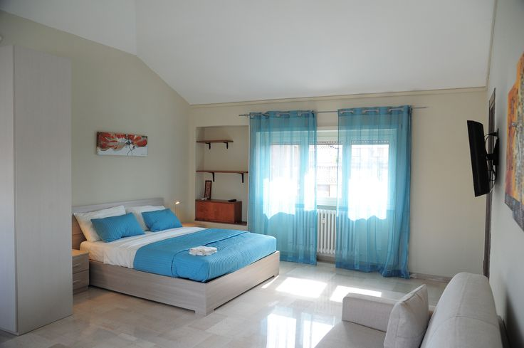 a comfortable double bed and a Sofa bed, up to 4 adults