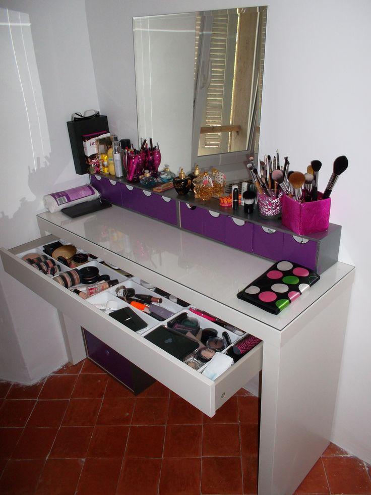 9 best Je veux une coiffeuse ! images on Pinterest Bedroom decor - meuble coiffeuse avec miroir pas cher