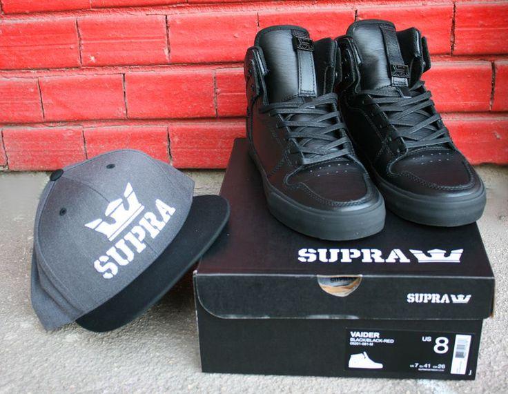 Supra Vaider Black/black/Red #Supra #SupraShoes #BMXMagazin