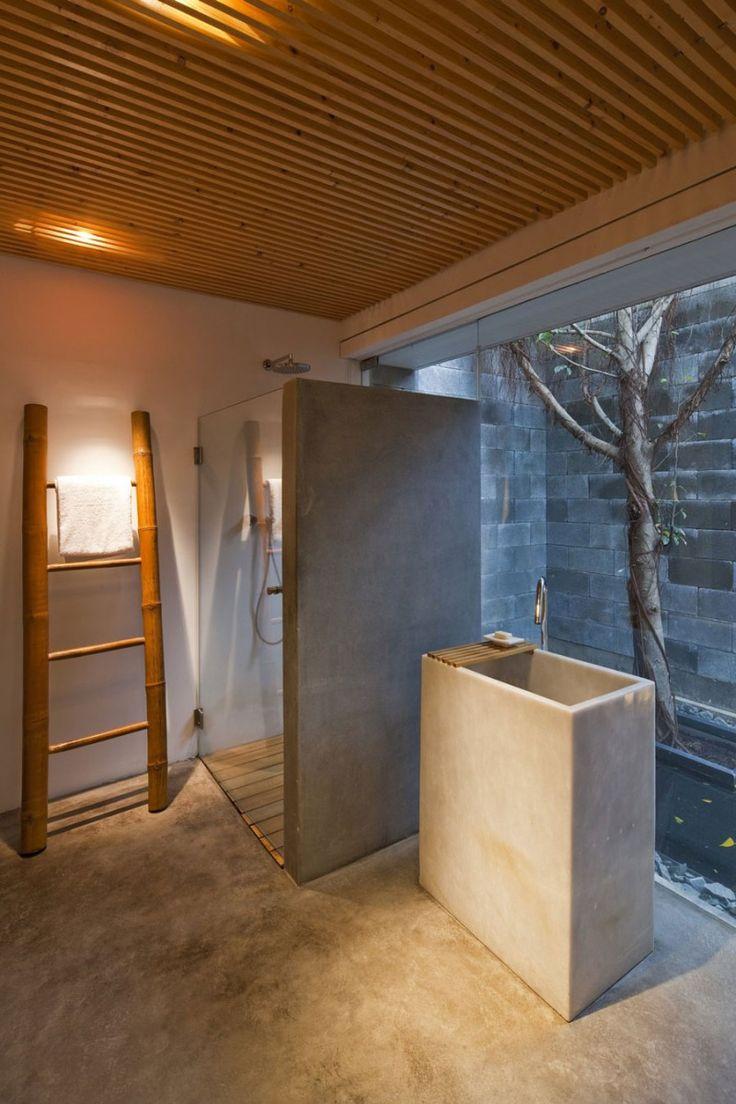 Tadelakt bathroom made by amel kadic - M11 House By A21 Studio