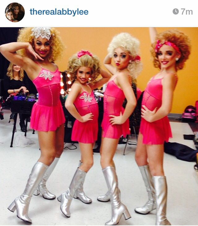 "Nia, MacKenzie, maddie, and kendall in group dance costume ""lift you up"""
