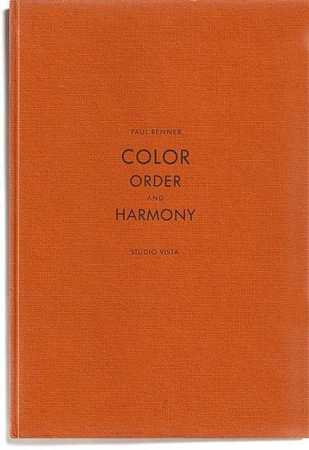 Paul Renner: Orange Colors, Books Covers, Orange Books, Coffee Tables Books, Colors Order, Colour Order, Reading Lists, Photo, Coffee Table Books