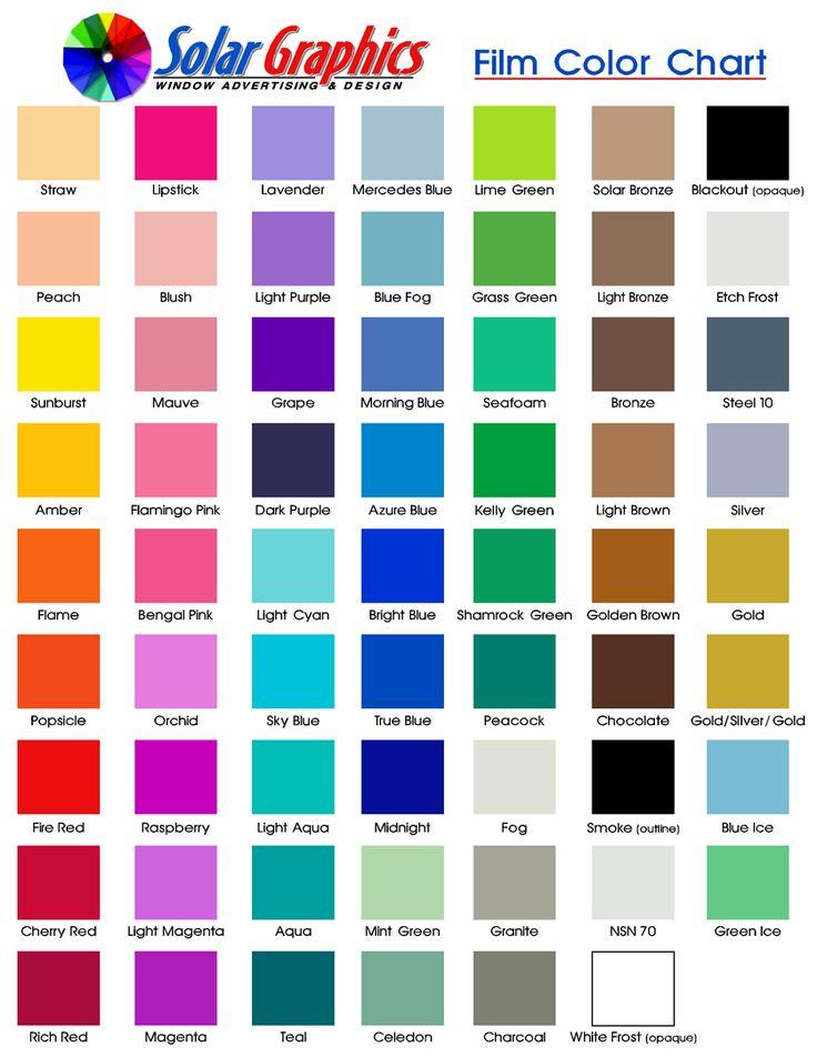 Printable Film Color Chart 2.jpg (837×1083)