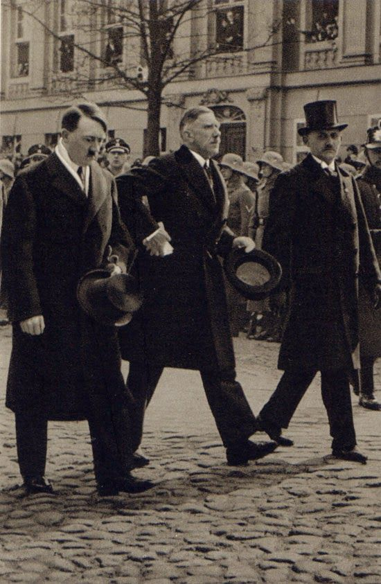 Hitler and Leader of the Conservatives Franz von Papen at Potsdam 1933