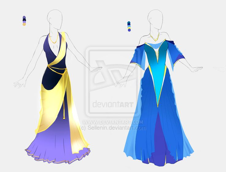 Dress Adopt Set 2 Closed By Sellenin Deviantart Com On