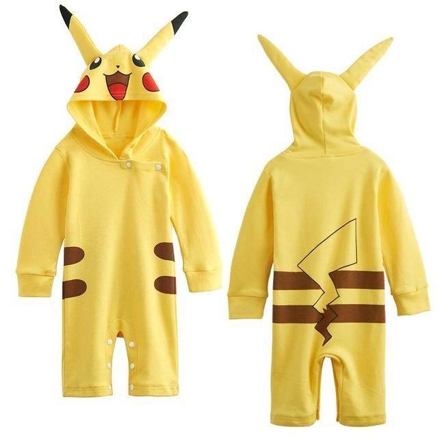 Baby Boys Superhero Costume Romper - Pikachu