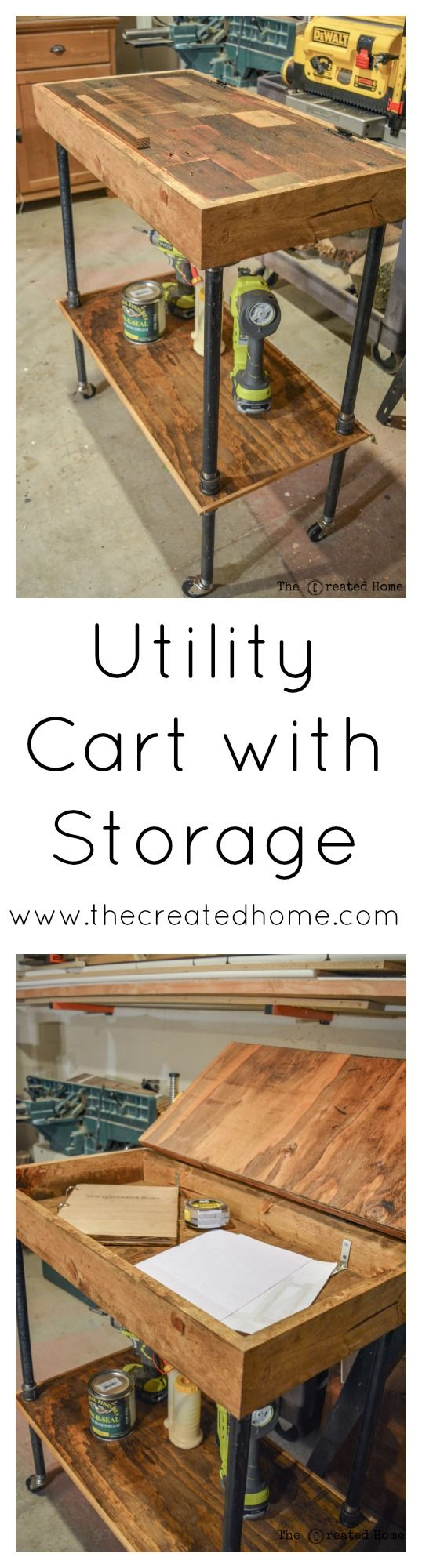 How to build a mobile storage cart that doubles as a desk. Perfect for the home or shop!