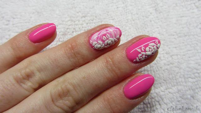 baseveheinails: Różowe paznokcie z różami - Victoria Vynn