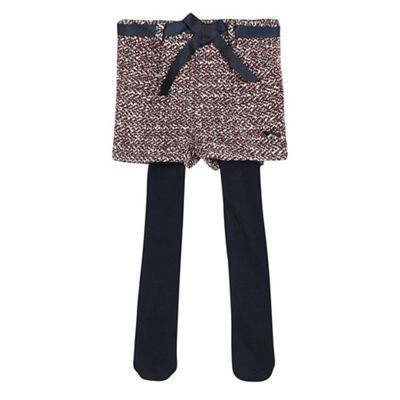 J by Jasper Conran Girls' multi-coloured tweed shorts and navy tights set | Debenhams