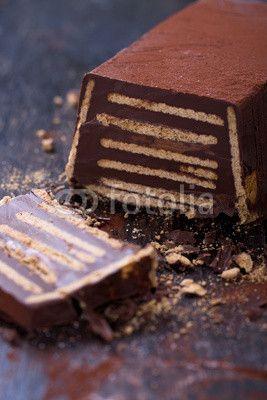 Kalter Hund, Kuchen aus Keksen und Schokolade