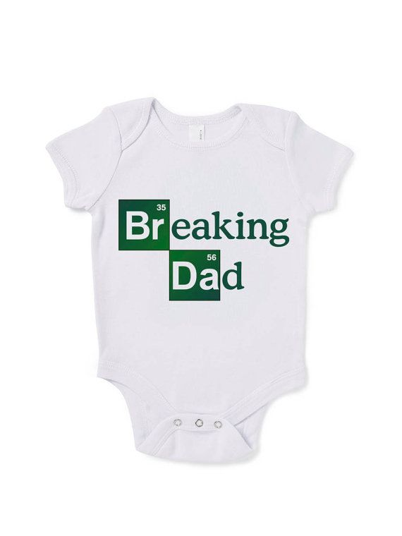 Breaking Dad Inspired Funny Slogan Baby Grow Humour Gift Present Baby Shower Birthday on Etsy, £9.99