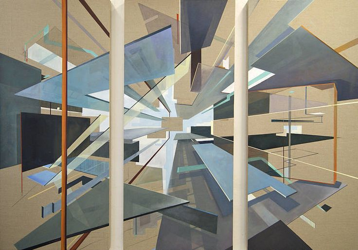 Spatial Dynamics (triptych) (commissioned, sold), Daniel Mullen