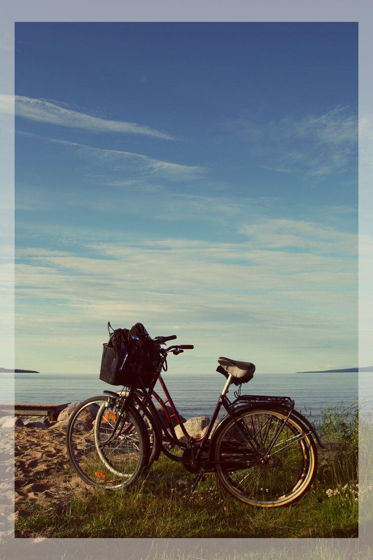Cyklar vid sjön