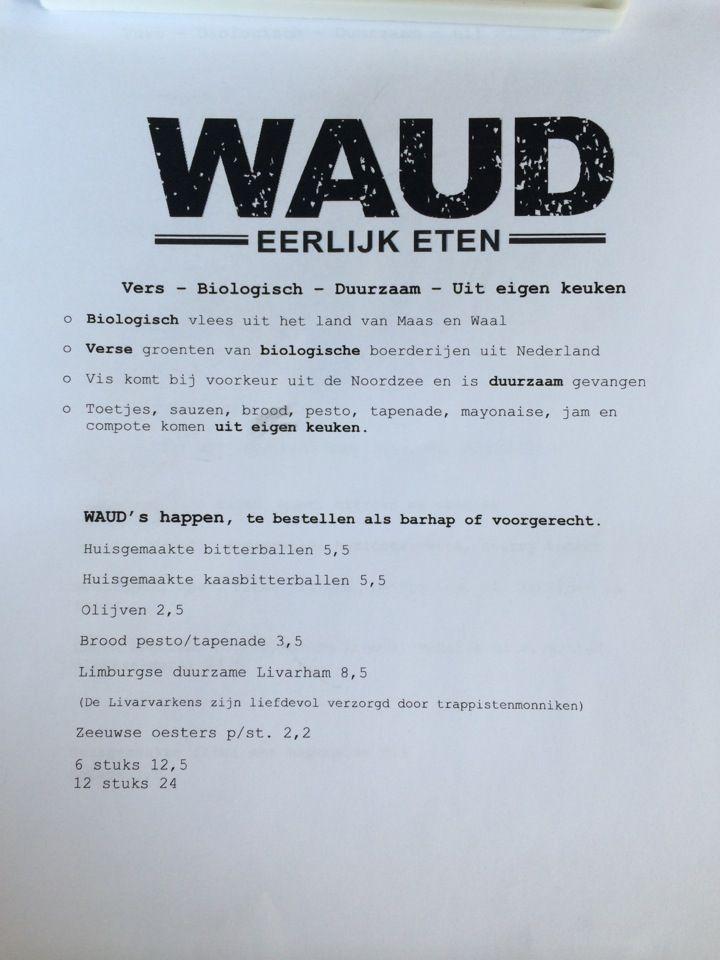 Waud Nijmegen - Een ongedwongen sfeer. Verse gerechten, huisgemaakt. Biologisch, duurzaam en betaalbaar. Rechttoe-rechtaan, zo simpel kan het zijn. http://waud.nu