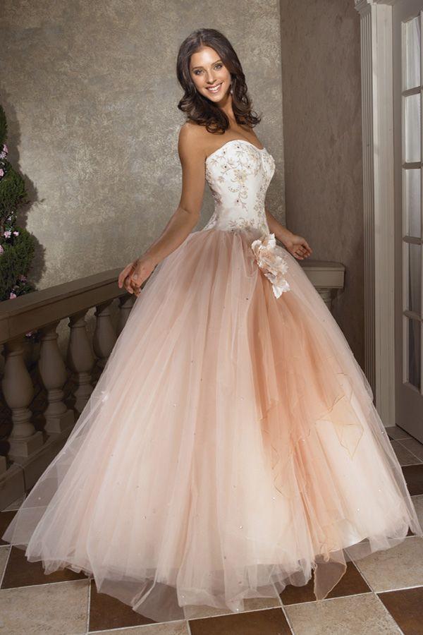 Simple Blush Pink Wedding Dresses