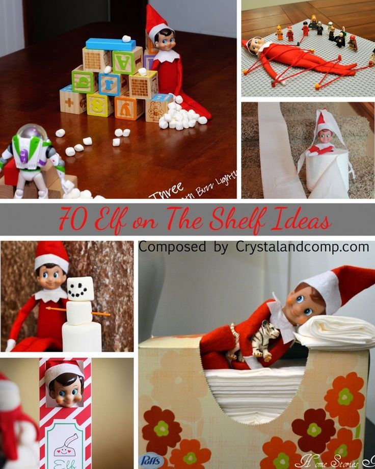 70 elf on the shelf ideas that are easy for parents to do and the kids will love!
