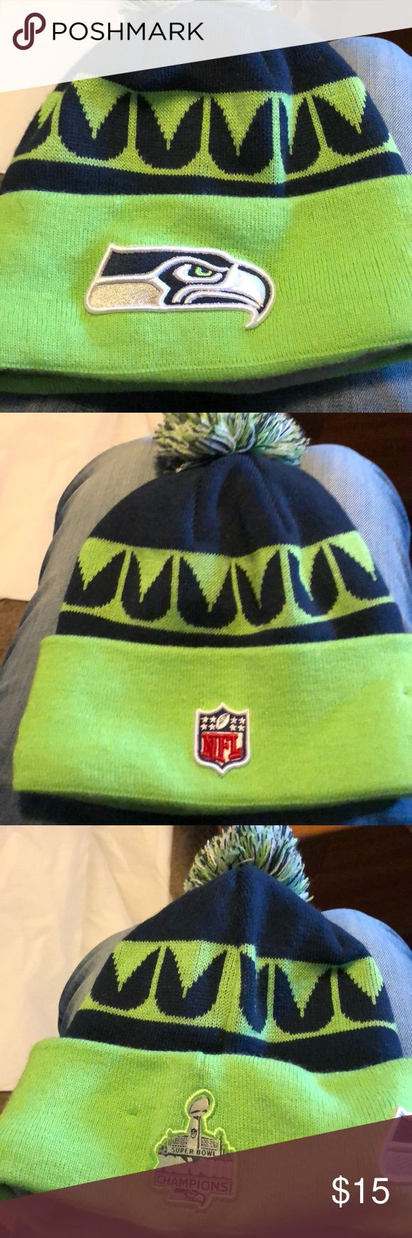 NFL Seattle Seahawks Fleece Hat Brand new never worn. One size fits most. Really soft warm fleece on the inside! Accessories Hats