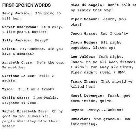 Their first spoken words