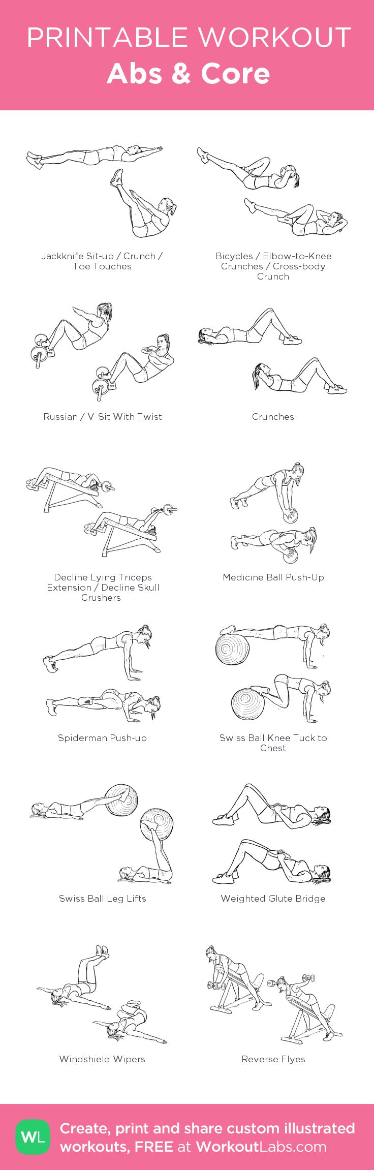 Abs & Core:Combination of Victoria's Secret workout and my own