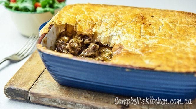 Hearty beef pie