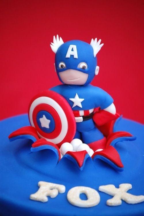 Captain America Cake Topper Tutorial