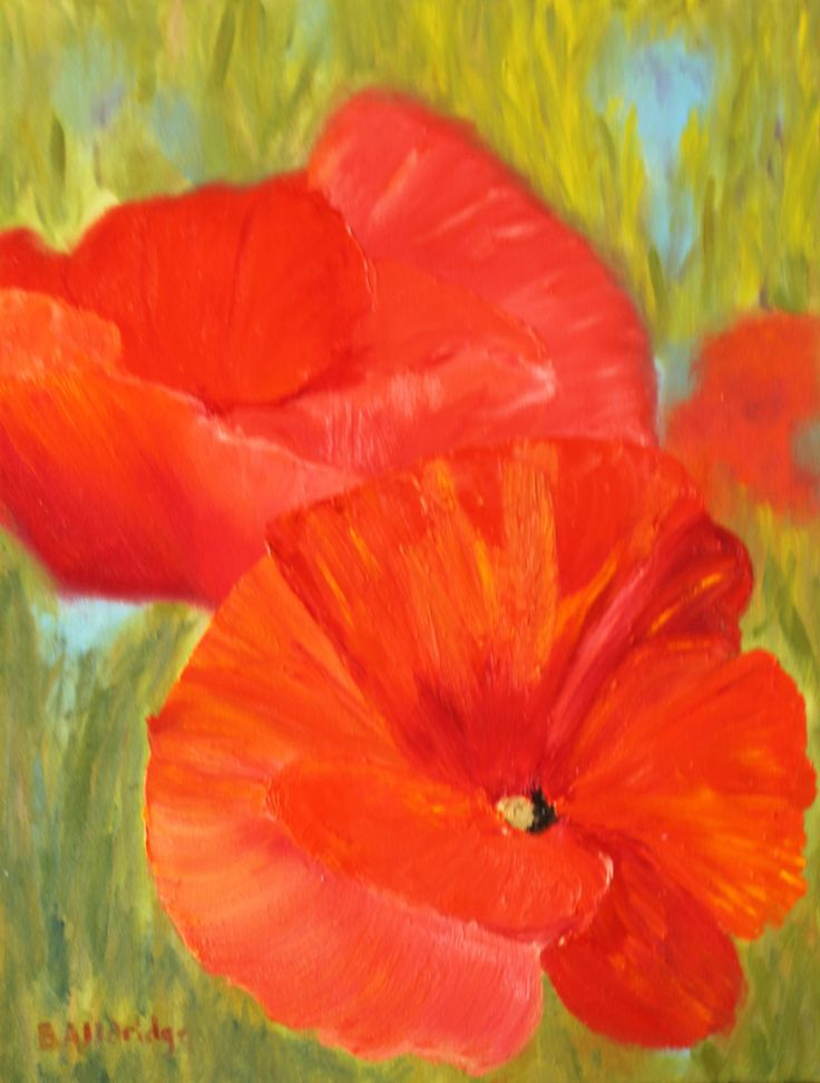Poppies by BevAlldridgeArt on Etsy