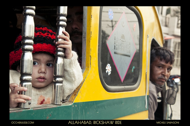 A #rickshaw ride in #Allahabad.  #India.